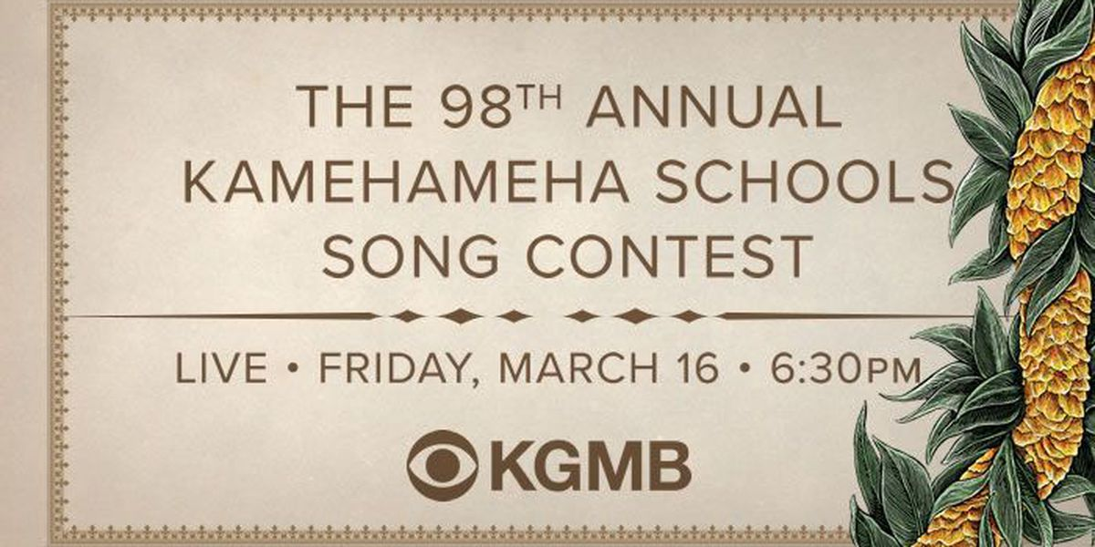 Kamehameha Schools Song Contests 2018