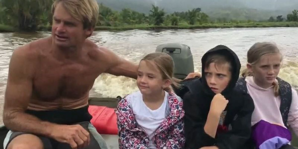 Legendary surfer Laird Hamilton among those who came to rescue on Kauai