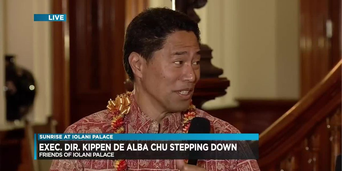 Iolani Palace director Kippen De Alba Chu stepping down from his post