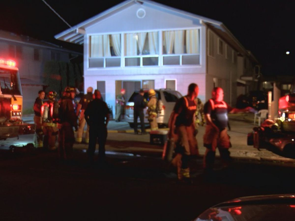 Adults, infant escape from 2-alarm house fire in Kaimuki
