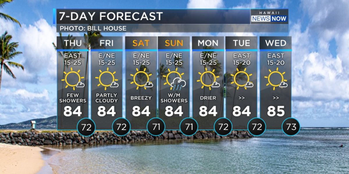Forecast: Breezy weather to hold beyond the weekend