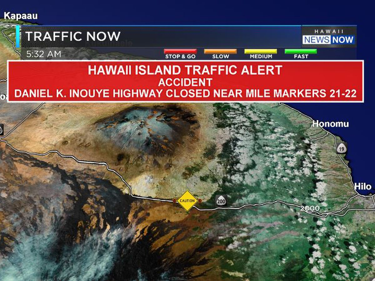 Big Island police close Daniel K. Inouye Hwy. due to crash