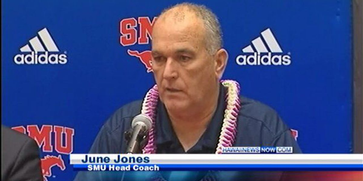 June Jones talks about returning to islands for Hawaii Bowl
