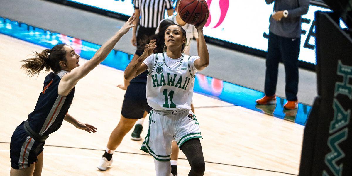 Rainbow Wahine basketball best CSU Fullerton, 49-47 at home