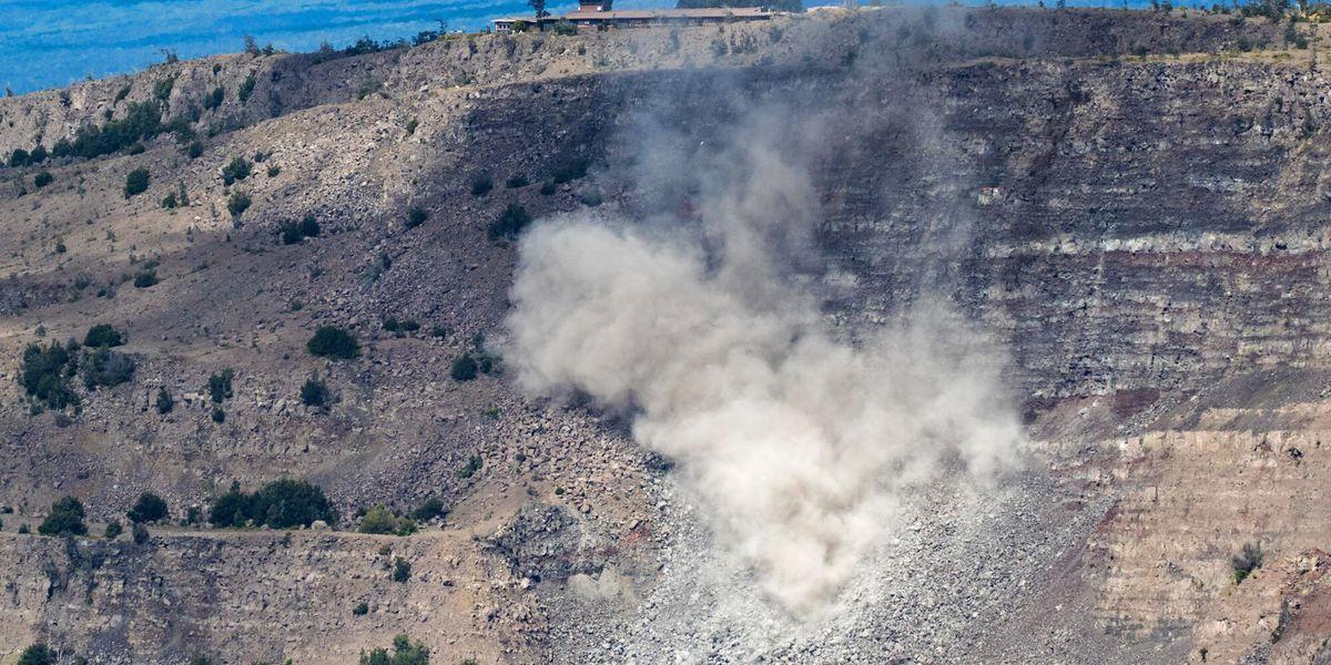Sizable rockfall is latest sign of settling at Kilauea summit