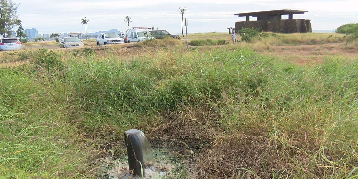 'Disgraceful' sewage leak at Sand Island park prompts more closures