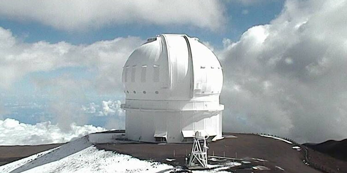 Mauna Kea sees snow thanks to weird, unstable weather