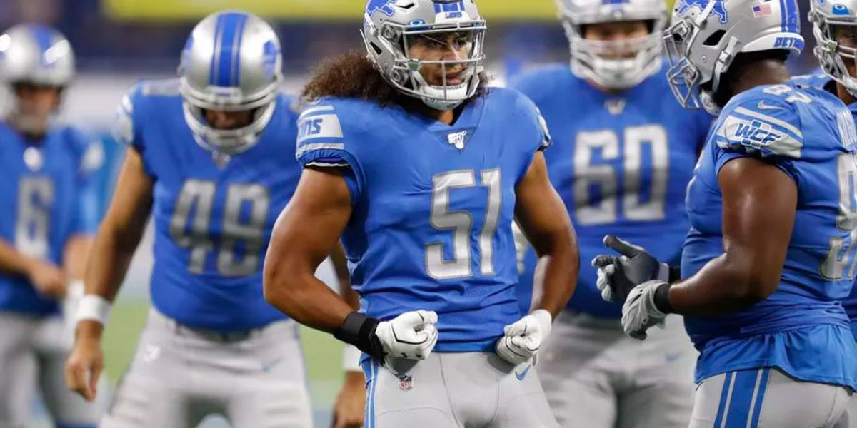 Jahlani Tavai tallies first NFL sack in Lions 24-24 tie against Cardinals