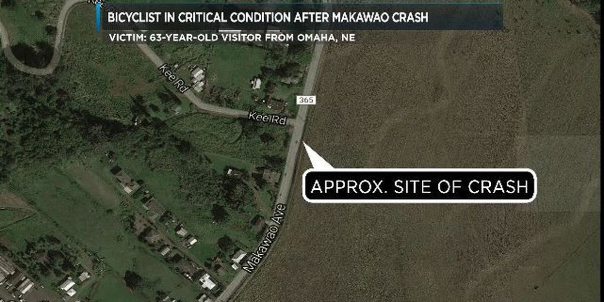 Nebraska visitor critically injured after being hit by truck in Makawao