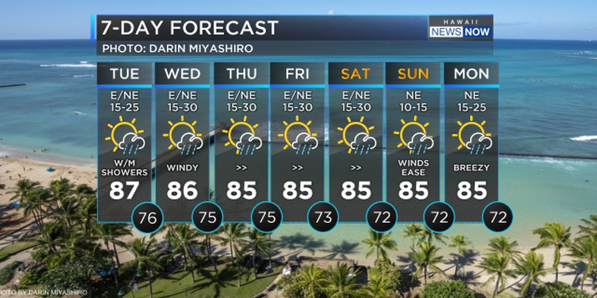 Forecast: Breezy winds to hold into the weekend