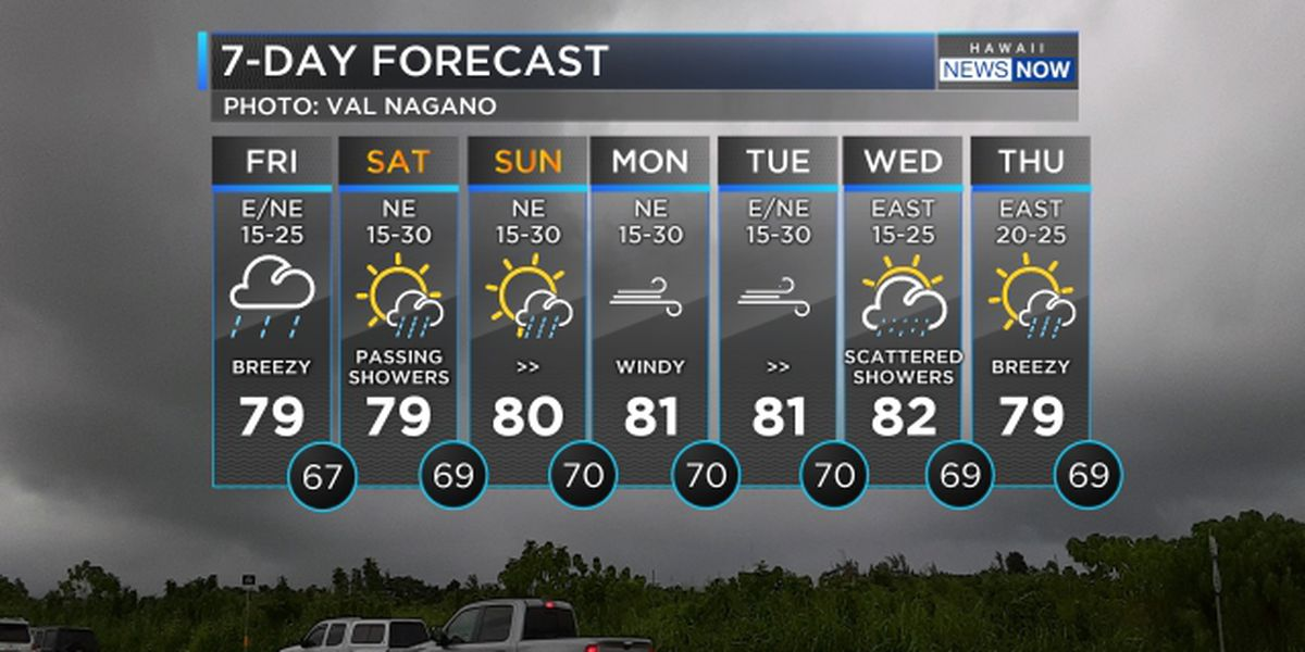 Forecast: Soggy conditions to persist through the weekend
