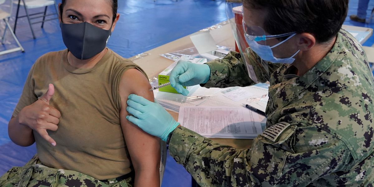 Mass vaccination operation at Pearl Harbor part of 'war-like' posture against COVID-19