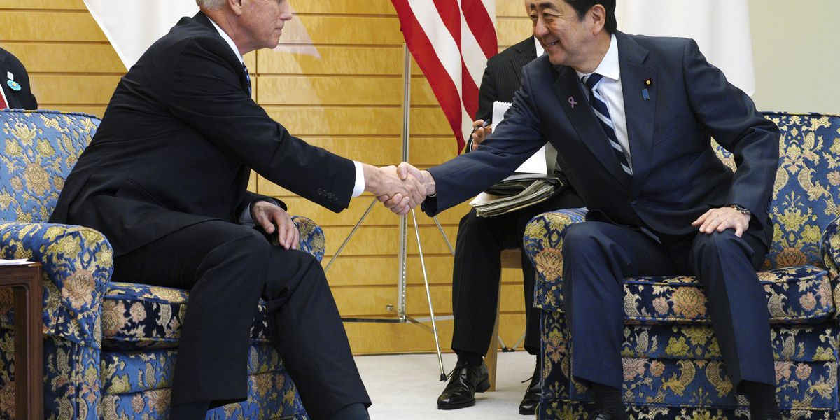 Pence, Abe discuss trade, NKorea ahead of regional summits