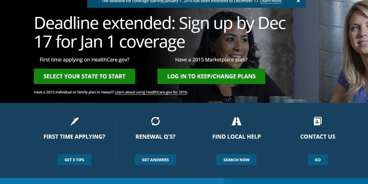 Deadline to sign up for health insurance under Obamacare extended to Thursday