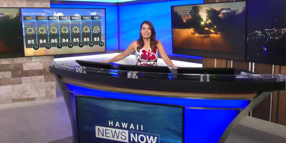 Aloha Friday weather; Meteorologist Jennifer Robbins