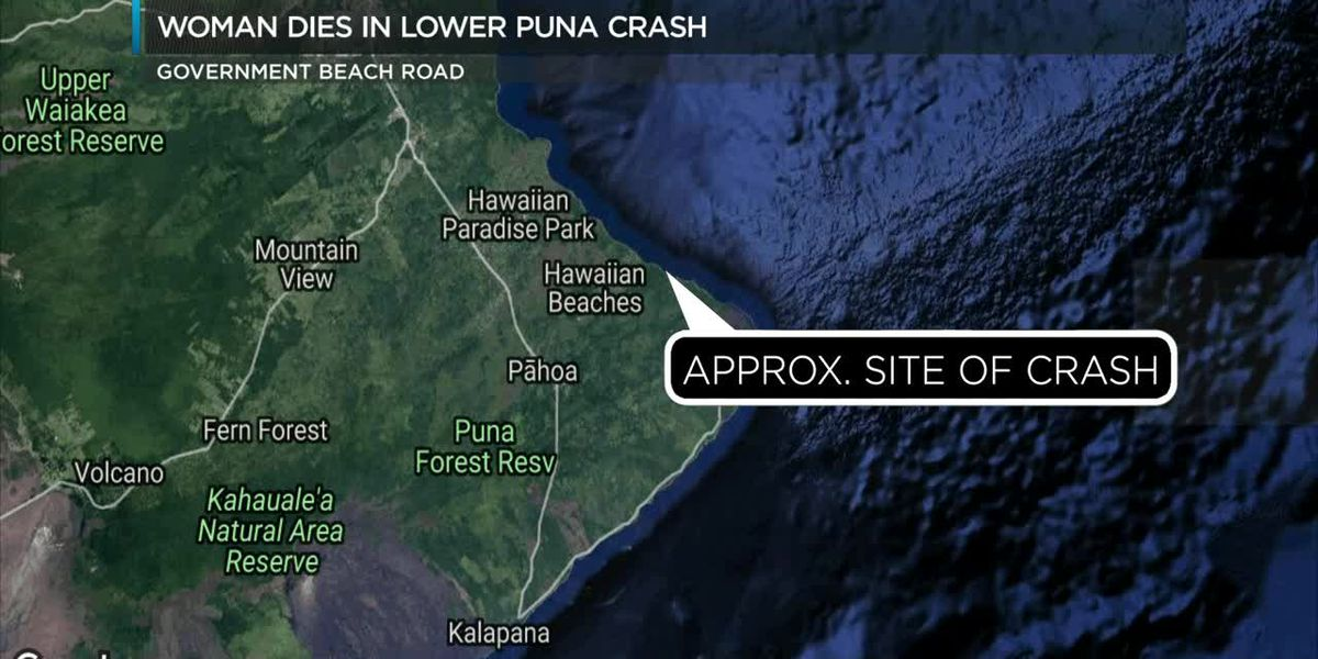 Woman dies after single-car crash in lower Puna