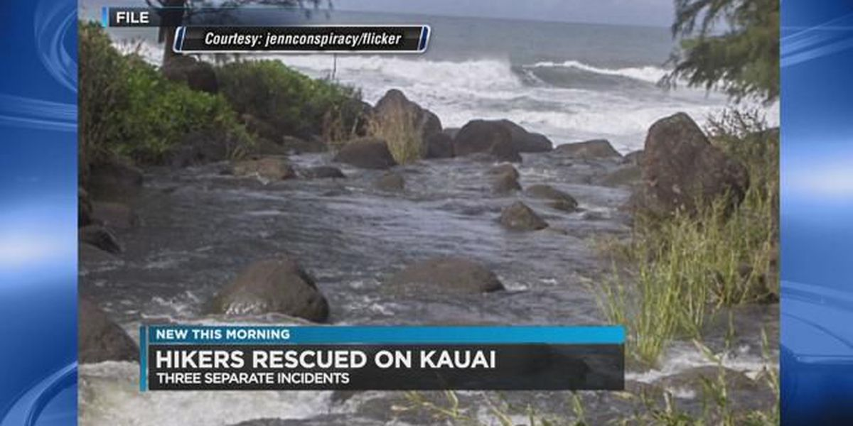Dozens of hikers rescued on Kauai due to heavy rain