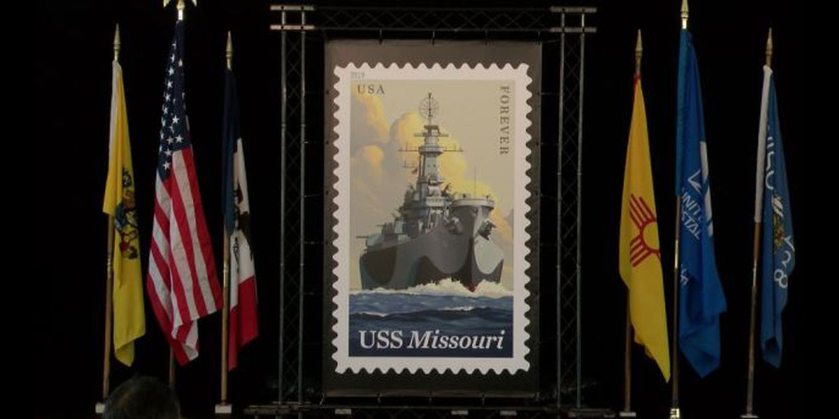Legendary battleship 'Mighty Mo' graces newest forever stamp