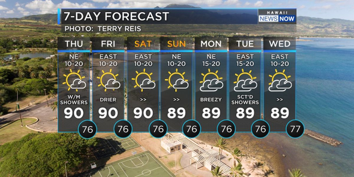 Forecast: Trade wind weather continues into the weekend