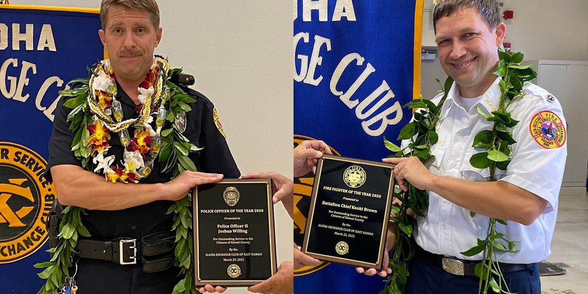 Hawaii Island police officer, firefighter honored for leadership, heroism