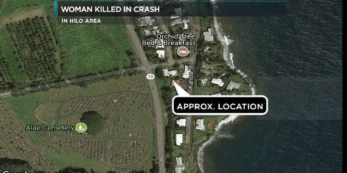 Hilo crash leaves 22-year-old woman dead
