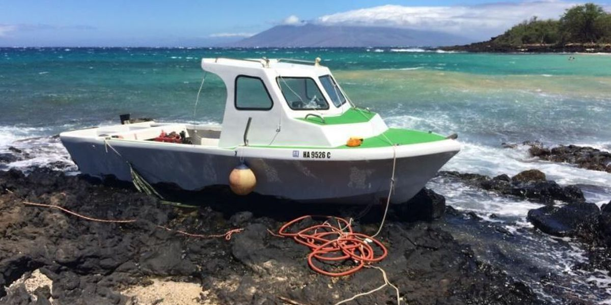 Makena State Park on Maui reopened after crews remove grounded motor boat