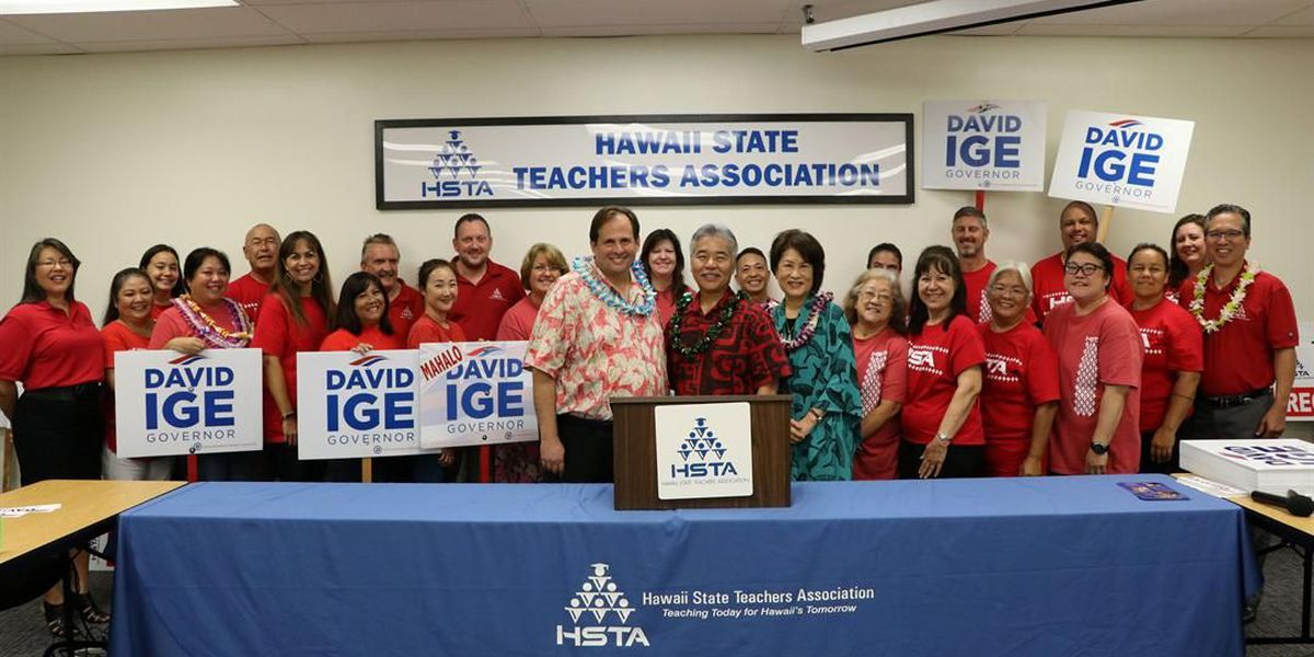 State teachers union endorses Ige for Governor race