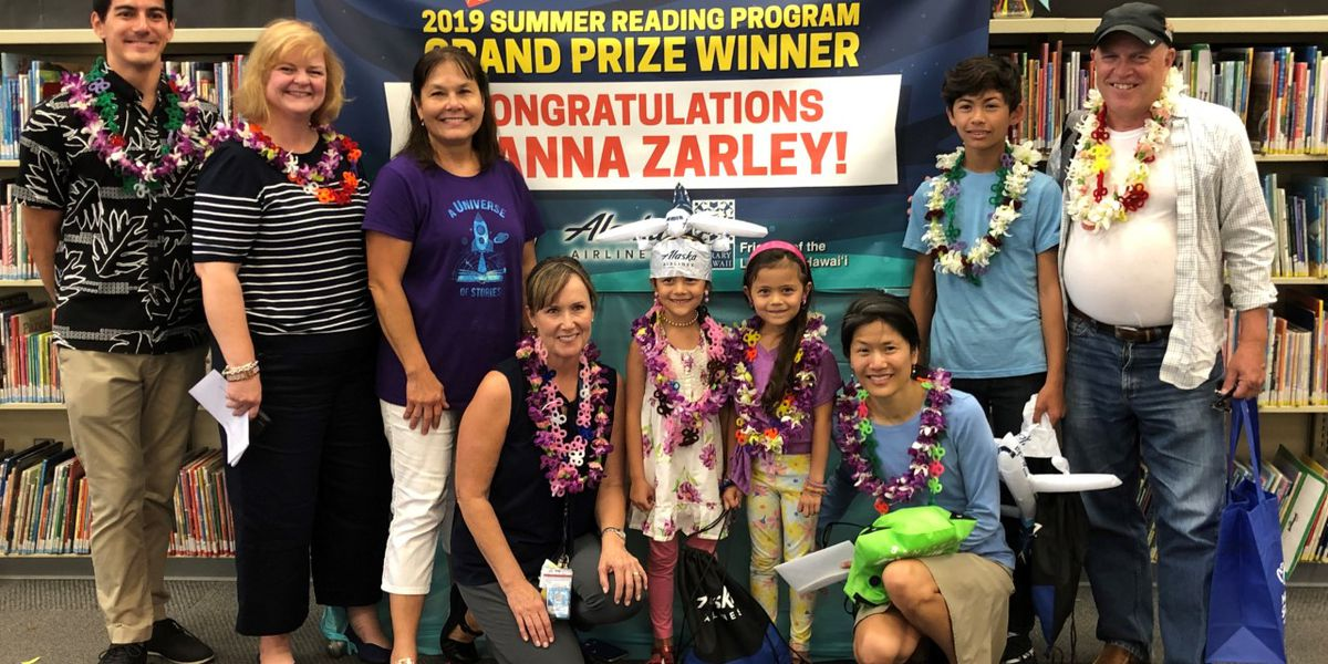 Reading books over the summer earned a Hawaii Island student an awesome prize