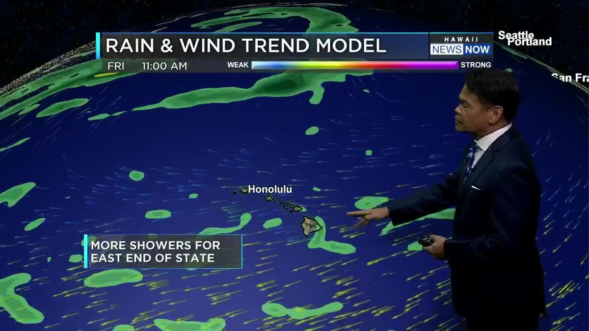 Forecast: Breezy trade winds along with drier conditions moving in