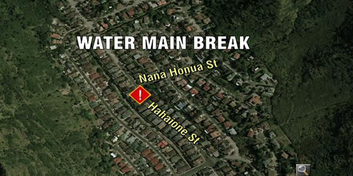 BWS reports water main break in Hahaione Valley