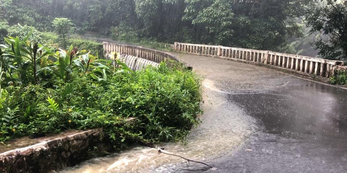Dangerous flooding along Hana Hwy. causes multiple landslides