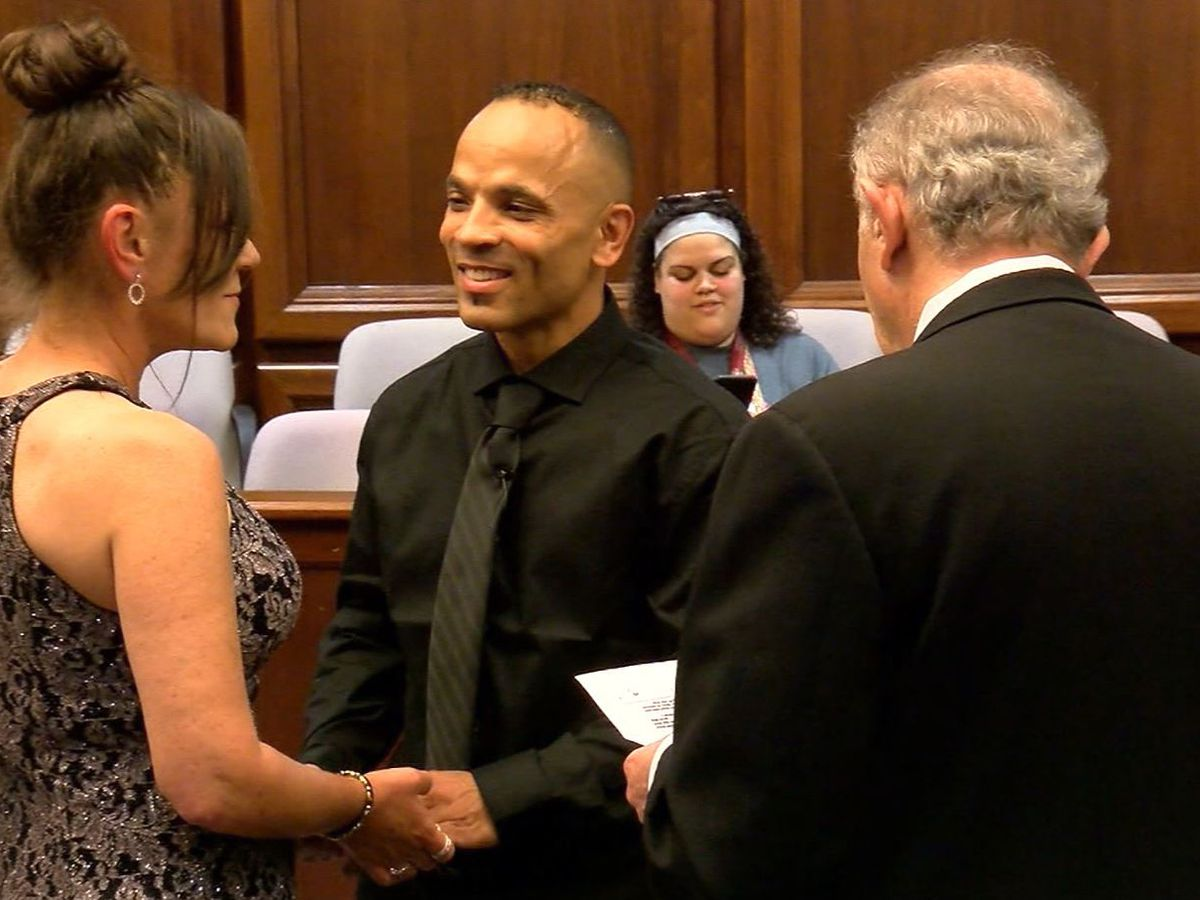 Judge officiates wedding for man he sentenced to nearly 50 years in prison
