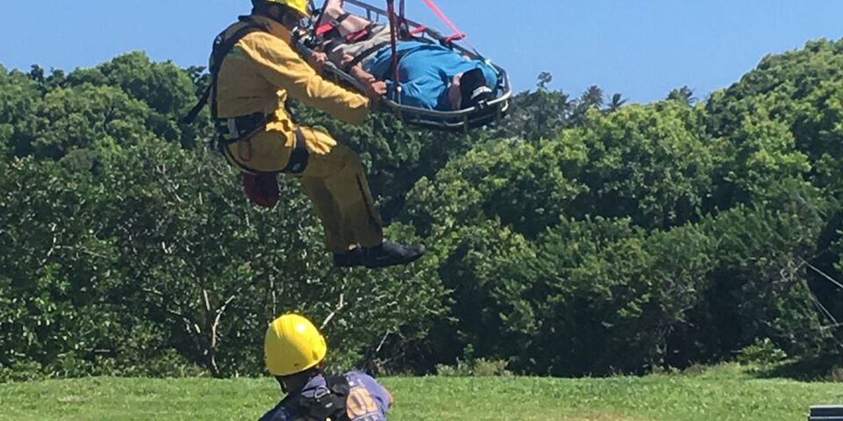 California man airlifted from Maui trail