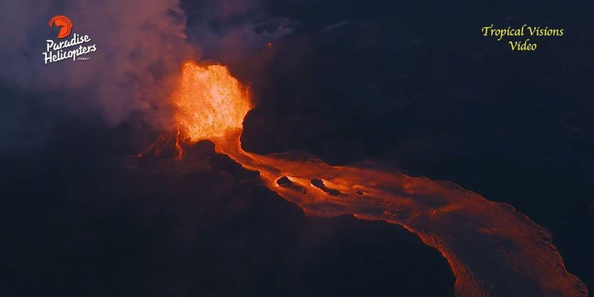 There are 24 fissures in Puna. Only one is spitting out 26,000 gallons of lava per second