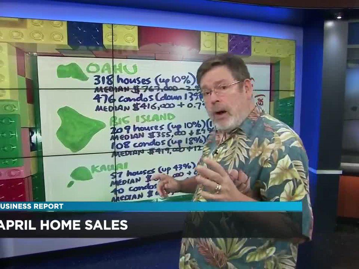 Business Report: April home sales
