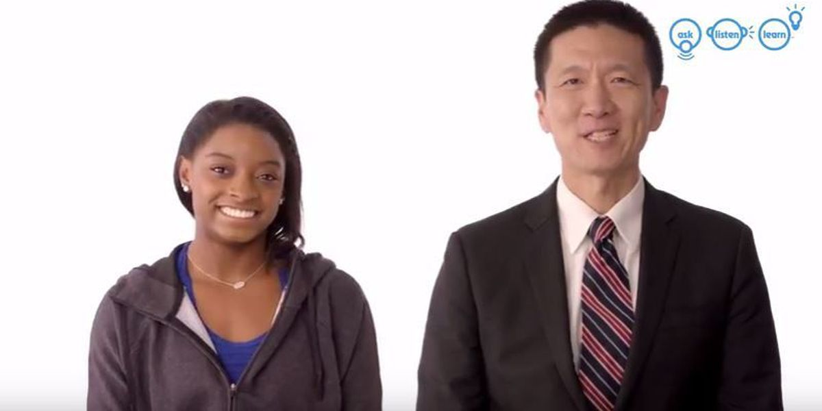 Simone Biles, Doug Chin team up for PSA on preventing underage drinking