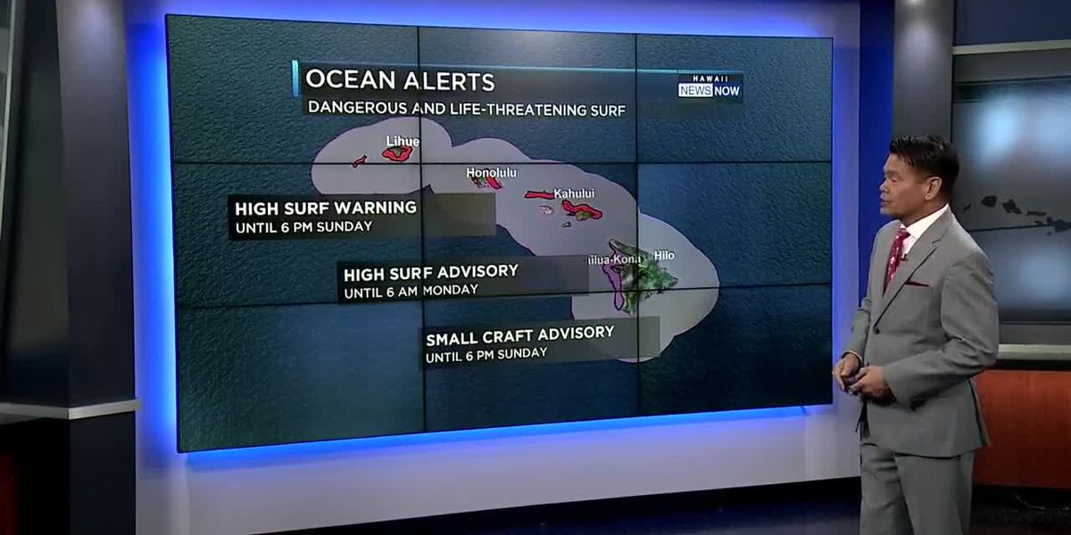 Forecast: Pleasant trade winds and huge, dangerous surf for one more day