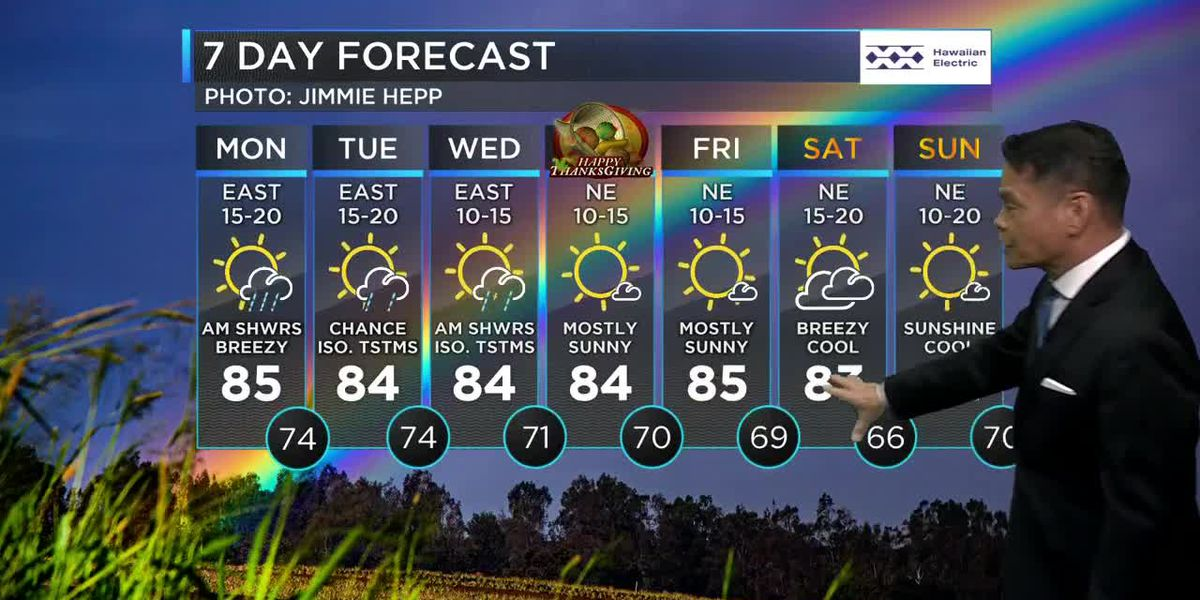 Wet weather possible ahead of Thanksgiving