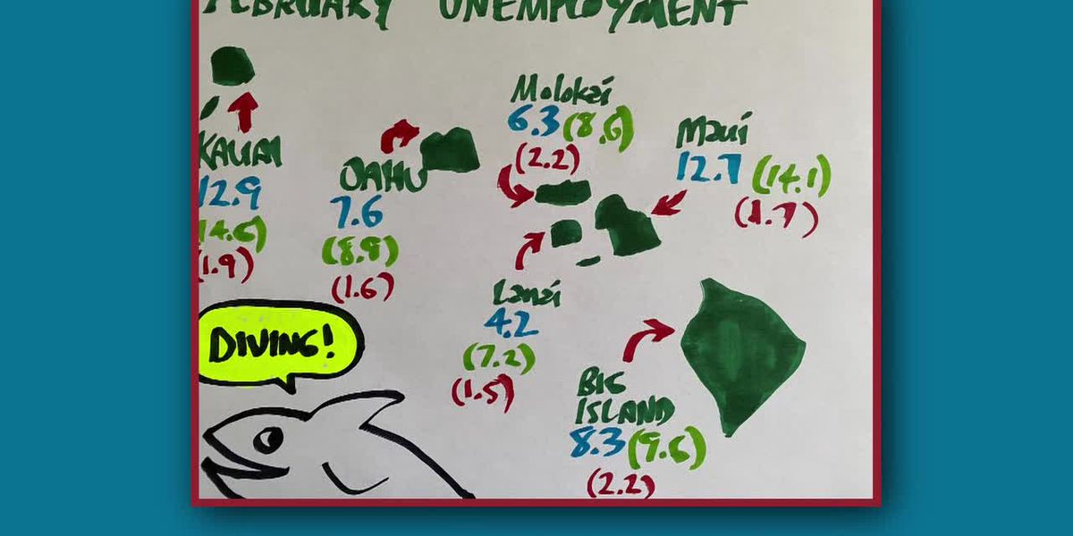 Business Report: Unemployment in Hawaii in February by island
