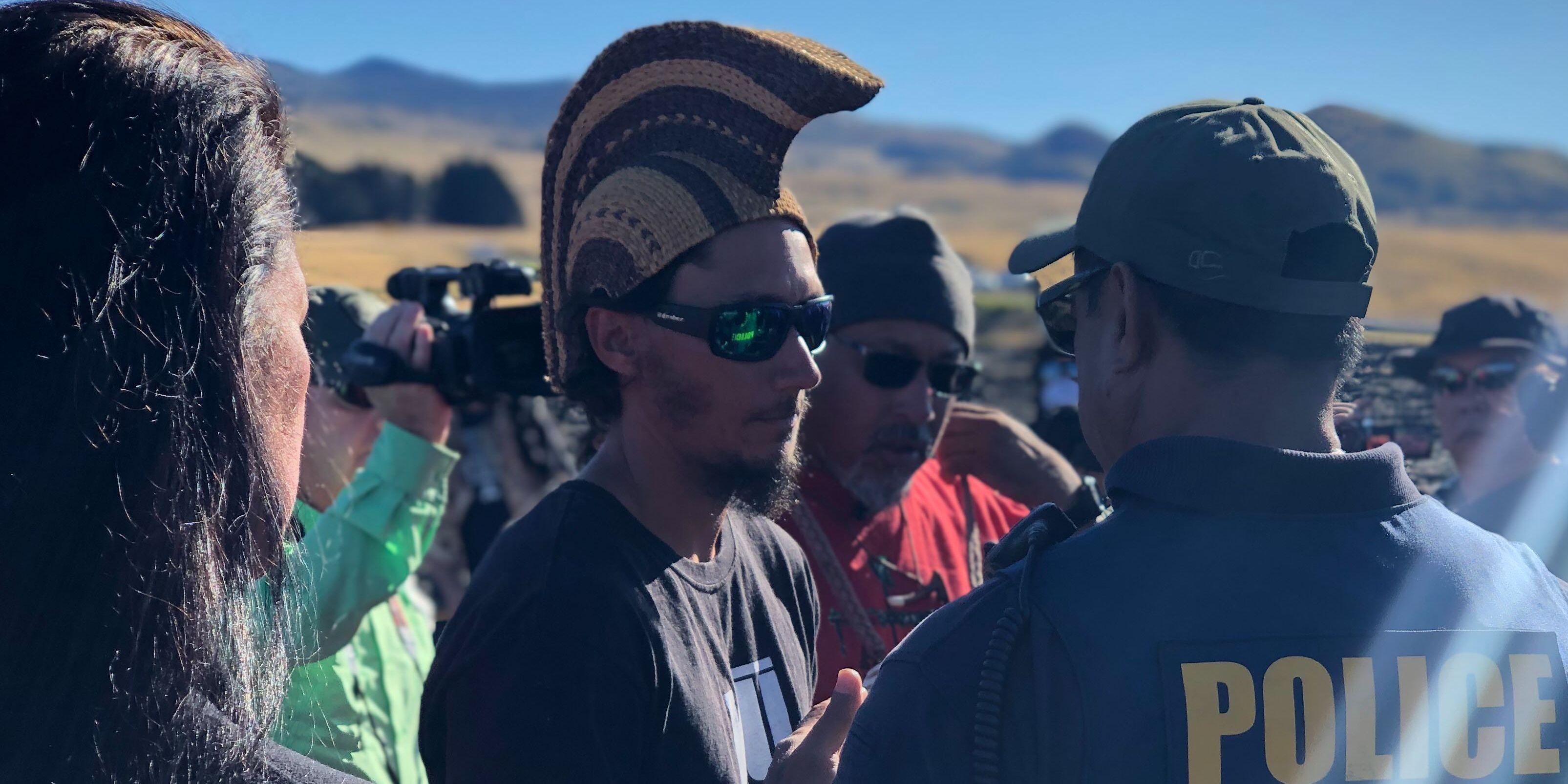 Watch protest leader Kahookahi Kanuha's message to demonstrators at Mauna Kea