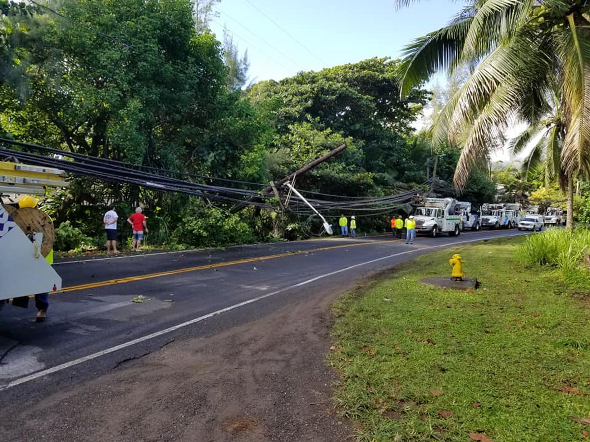 Kamehameha Highway reopens in Laie following utility pole repairs