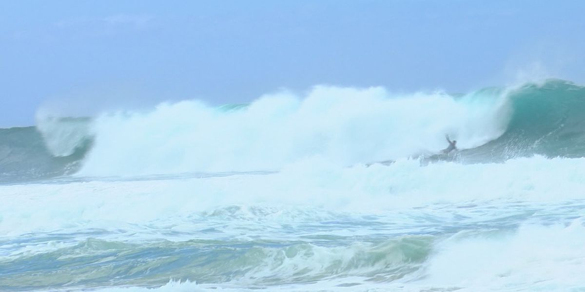 High surf warnings, advisories issued for huge northeast swell