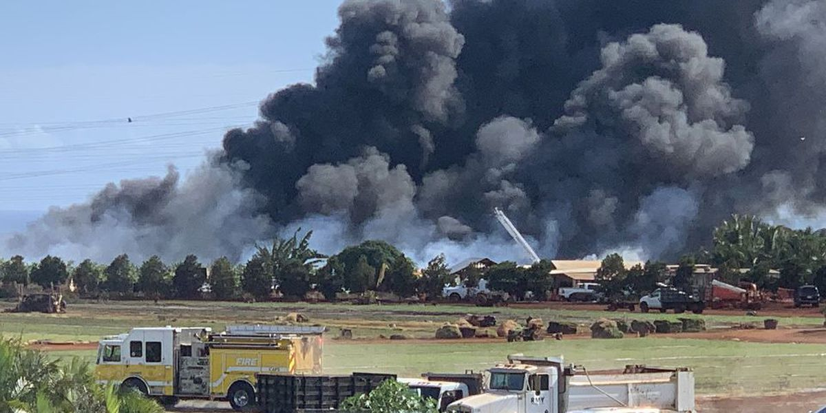Firefighters bring large blaze on agricultural lot in Mililani under control