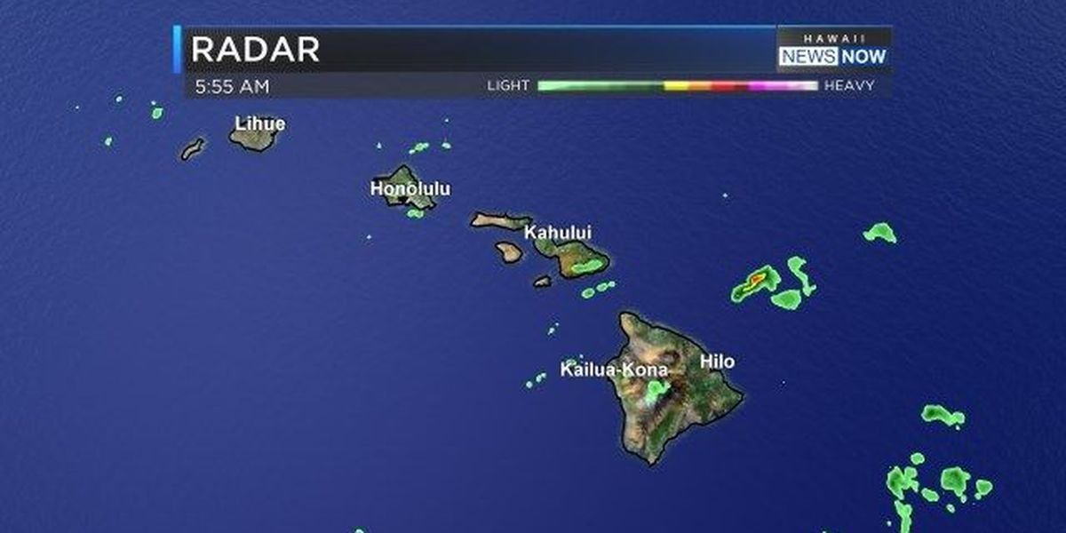 Forecast: Few showers possible over interior sections