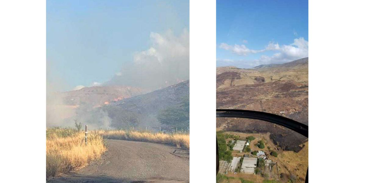 Brush fire on Maui burns at least 75 acres; fire fight ongoing