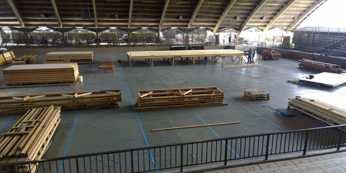 The most famed stage for hula is taking shape in Hilo ahead of Merrie Monarch