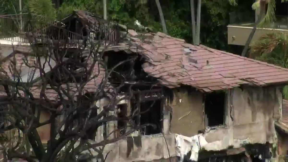 A Diamond Head family went to church on Sunday. They returned to an active crime scene and their home destroyed