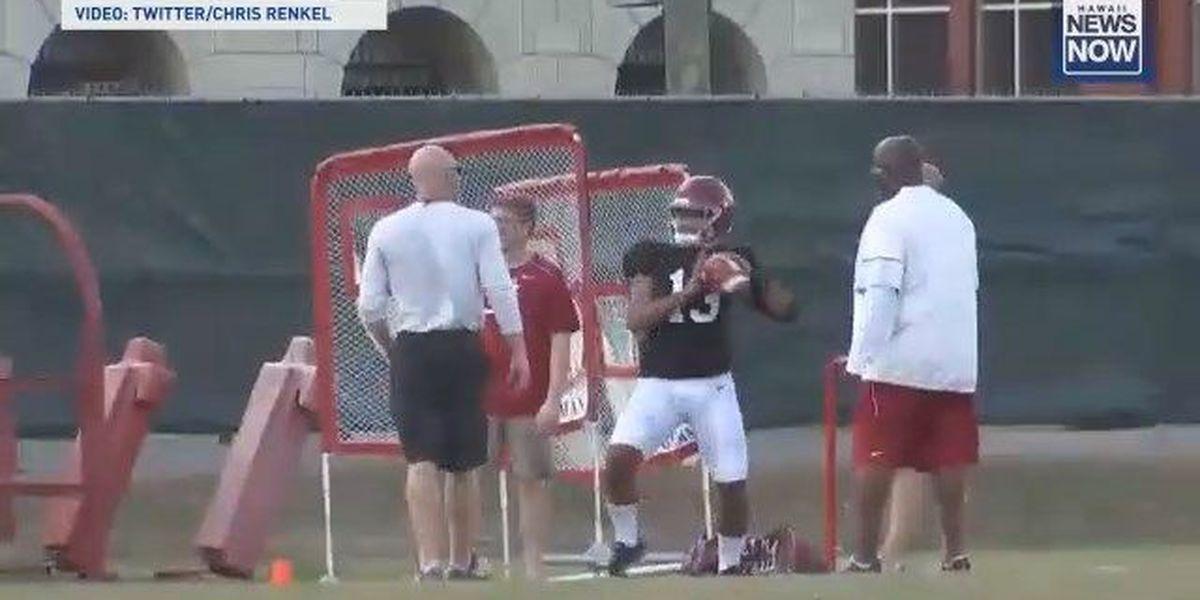 Tagovailoa suffers injury setback during Alabama spring practice