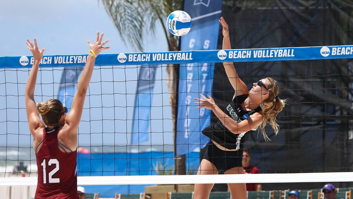 Go Bows Hawaii Defeats South Carolina In Ncaa Beach Volleyball Championship Opener