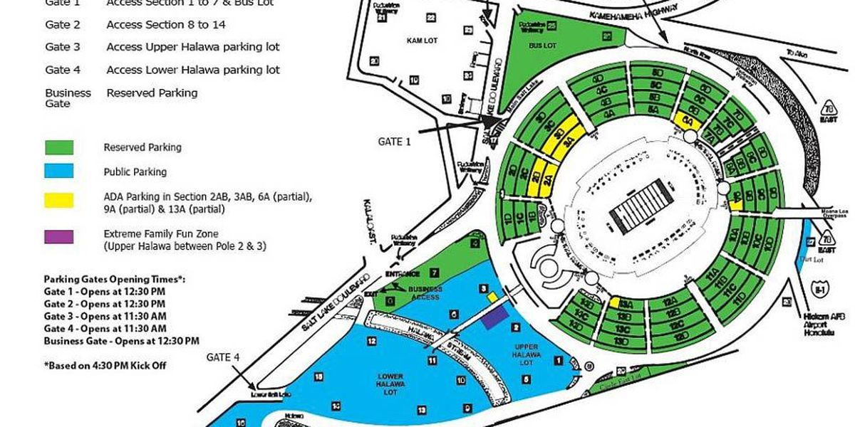 Parking advisories, info for UH/UW game